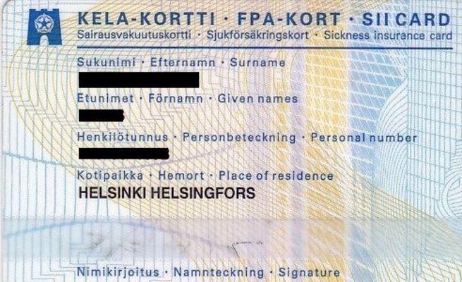 Пример стахового полиса в Финляндии